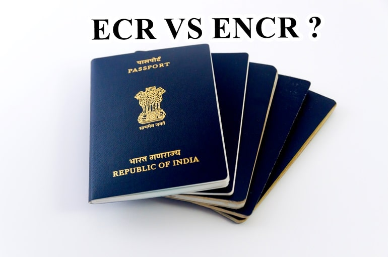 ECR और ENCR में क्या अंतर है- Difference Between An ECR And A Non-ECR Passport In Hindi