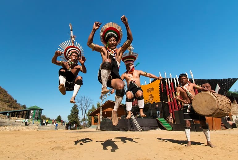 Warrior Background Of Nagaland State In Hindi