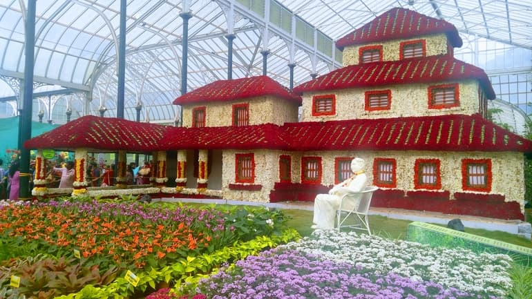 फ्लावर शो एट लाल बाग़ - Flower Shows At Lalbagh in Hindi